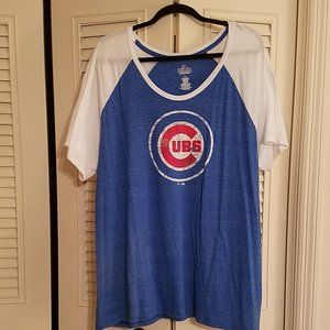 MAJESTIC CHICAGO CUBS SHIRT SIZE 2X WORN 1 TIME